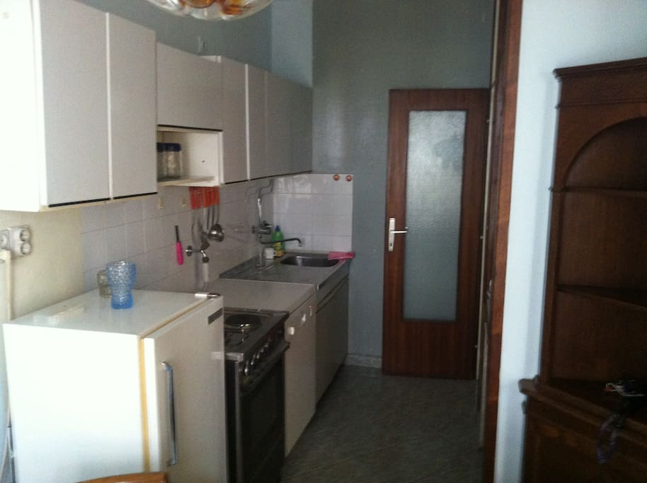 The kitchen, dishwasher included.