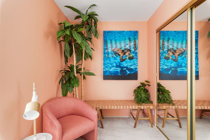 """Relax in our beautifully decorated """"pool room"""""""