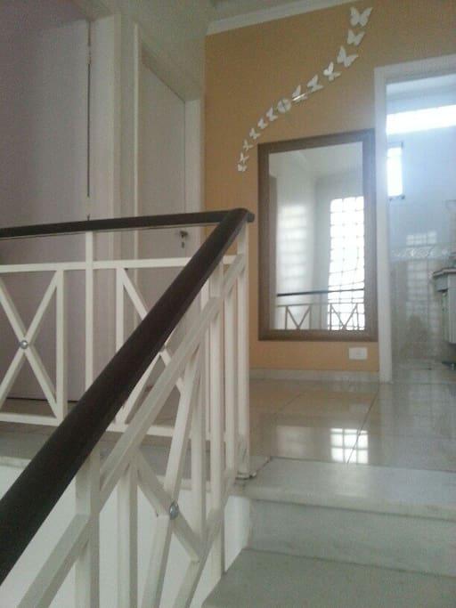 Hall de entrada dos quartos