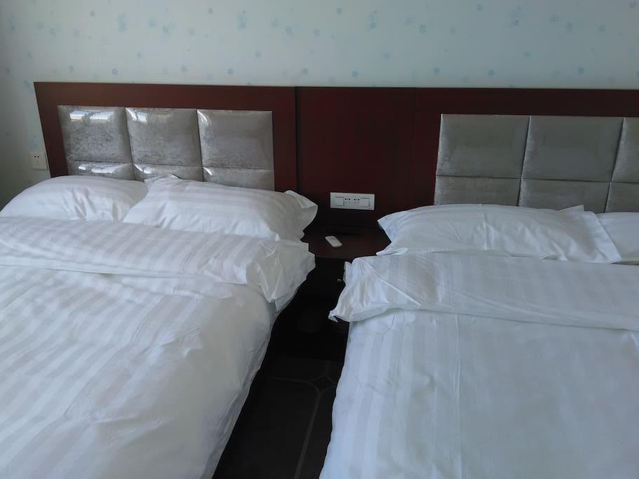 床单被套,一人一换,干净卫生
