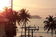 Another beautiful day - watch the cruise ships sail past as the sun sets over Patong beach!