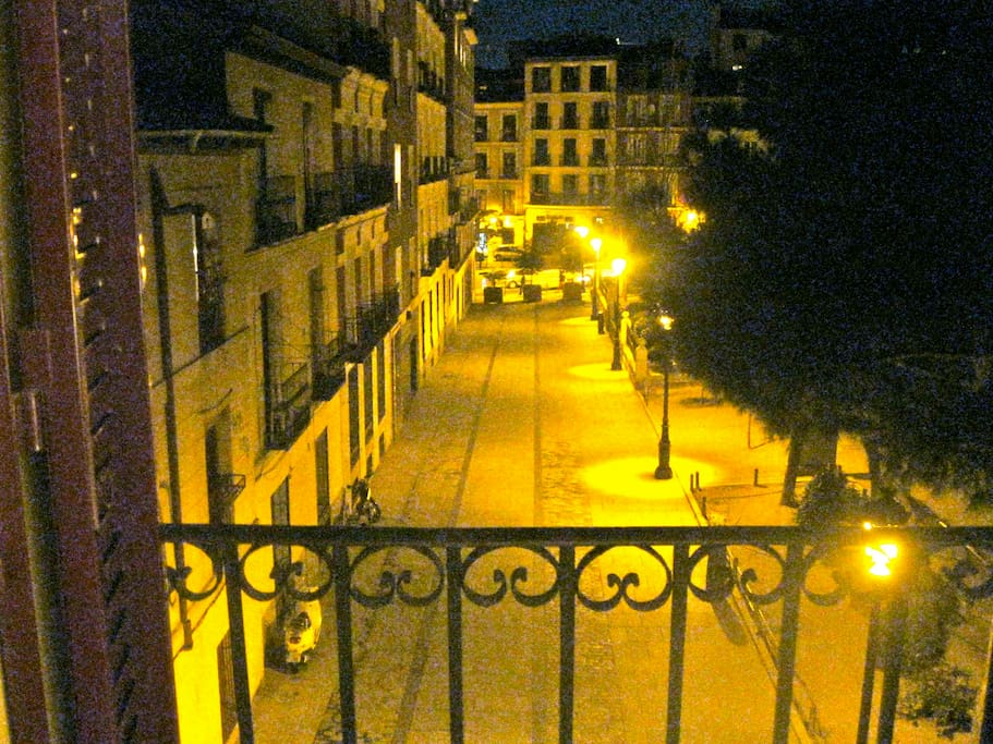 view from balcony (night)