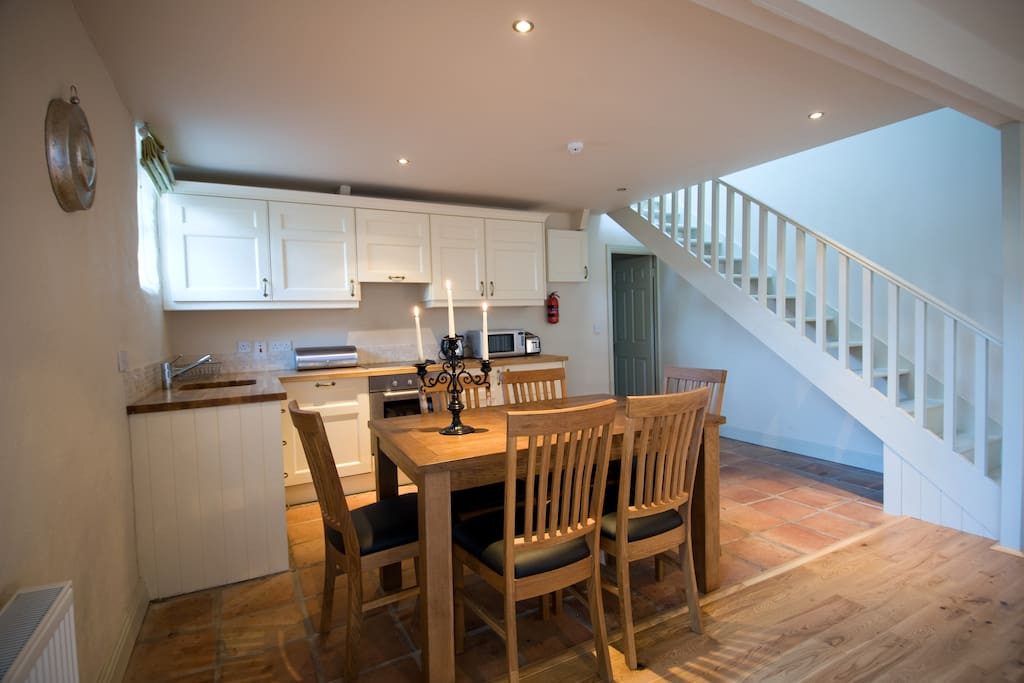 Open-plan living/kitchen area has everything you need