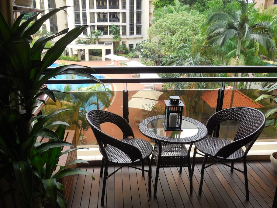 Relax and enjoy the view from the balcony