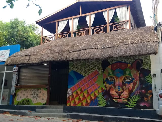 Jaguar Negro Hostel playa del Carmen, Qroo Mexico