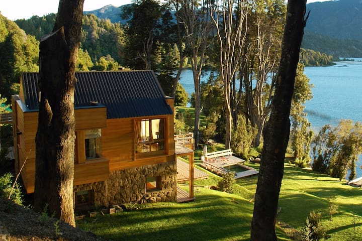 Lodge on the Lake overlooking Cerro tronador