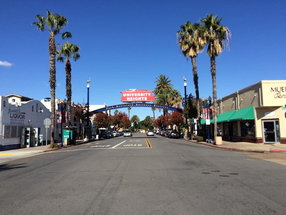 One block away, you are at the heart of University Heights. Great bars and restaurants.