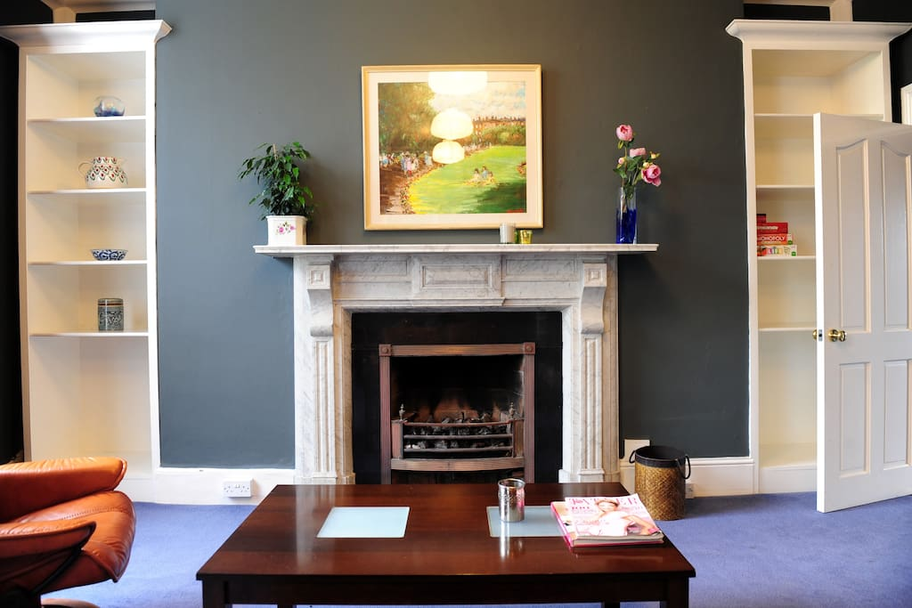 period fireplace with gas fire inset