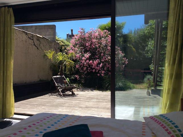 Chartrons: room and garden - Bordeaux - Casa