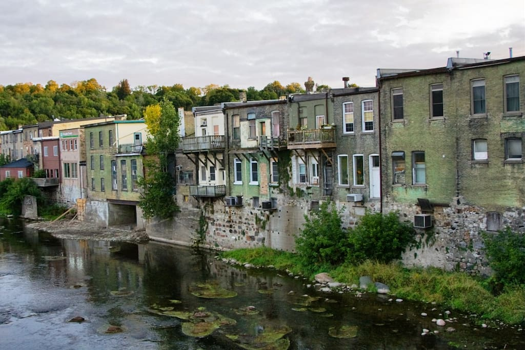 """Our house is located within a 5 minute walk of downtown Paris, Ontario - voted the """"Prettiest Town in Canada""""."""