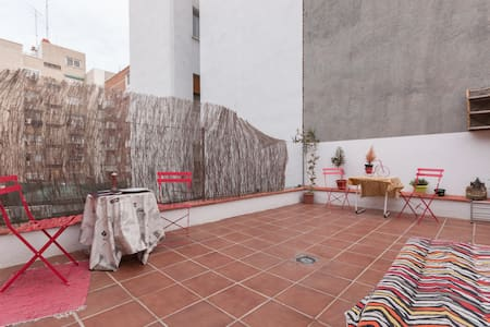 Terrace-Room and  10m to center!!! - Madrid