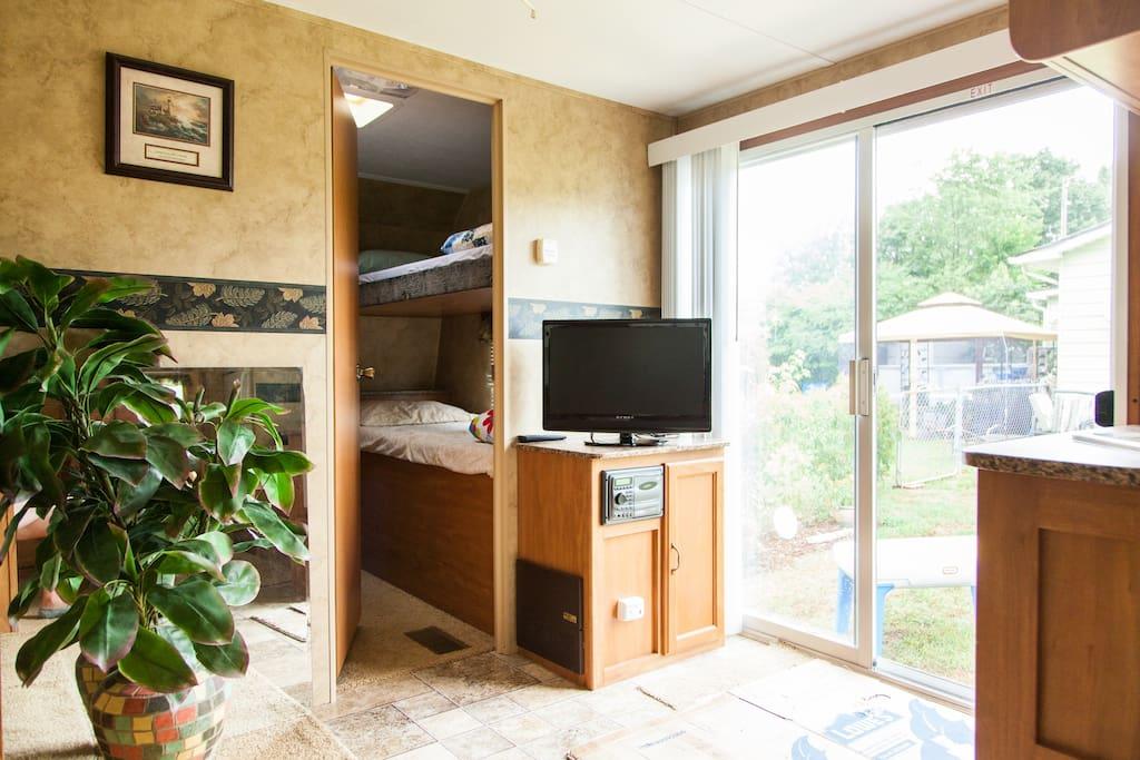 HDTV in living area.