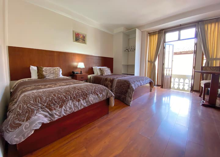 Hab. Doble: Hermoso Hotel Colonial
