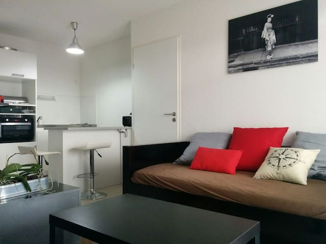 Beau T2 Terrasse Neuf / Plages - Baillargues - Apartamento