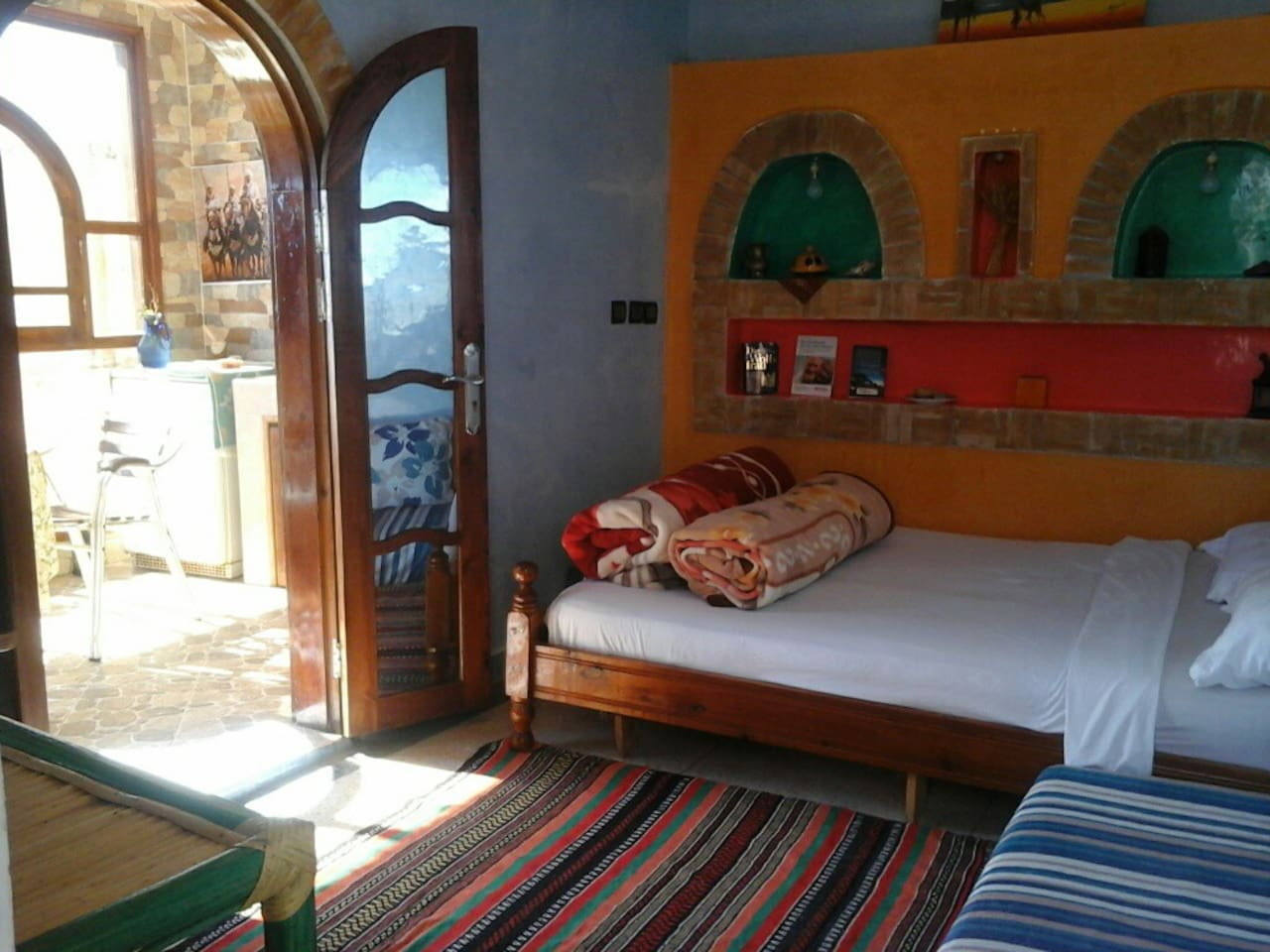 Bedroom next to the kitchen