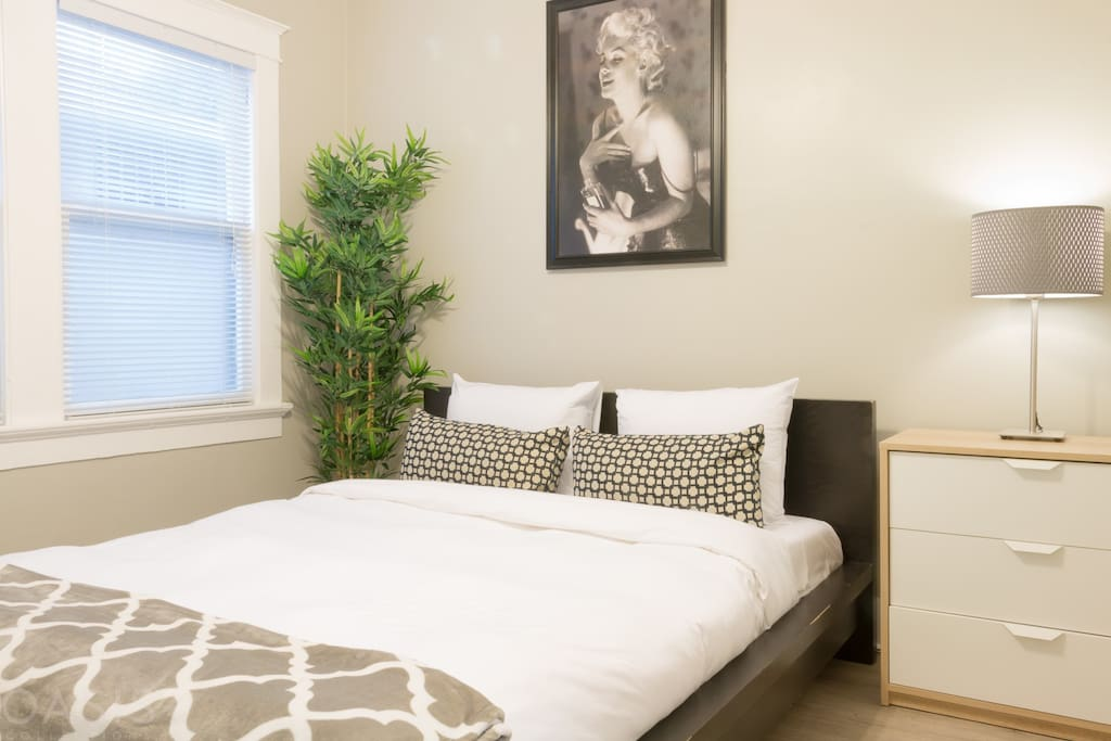 The master suite is the perfect place to relax after a day at the beach