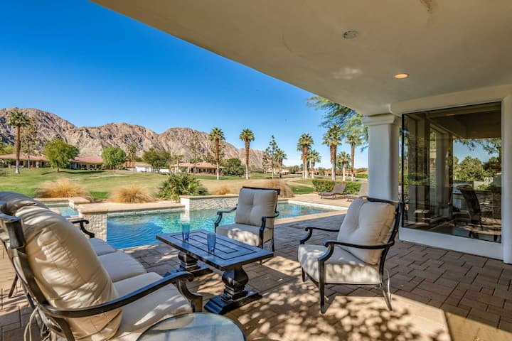 New Remodeled Luxury PGA West Home W/Saltwater Pool/Spa Awesome Mountain and Golf Course Views