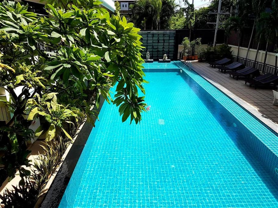 Swimming pool with peaceful surrounding
