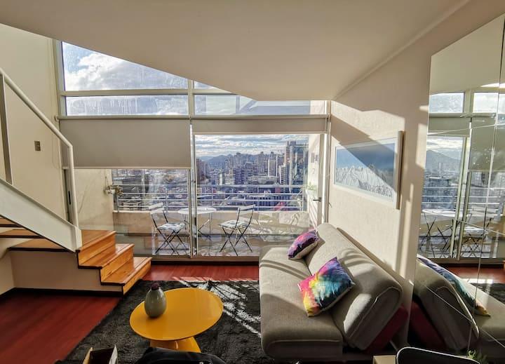 Loft Vista Sky ((Santiago Full Duplex))