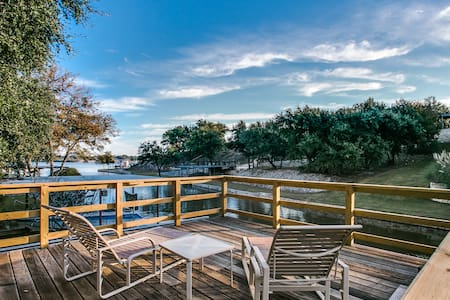 Efficiency on Lake Granbury-secluded in the trees.