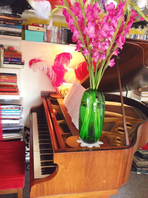 Featuring a beautiful 1930's Steinberg Baby Grand Piano
