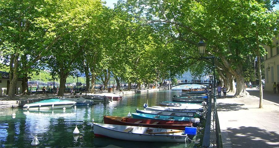 À 10 mn du lac d'Annecy à vélo !