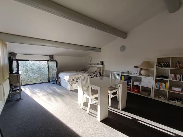 Chambre à l'étage de 25 m2