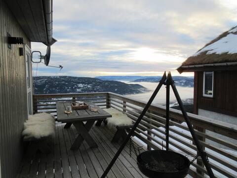 Norefjell, Alpingrenda. Midt i bakken. 12 sengepl.