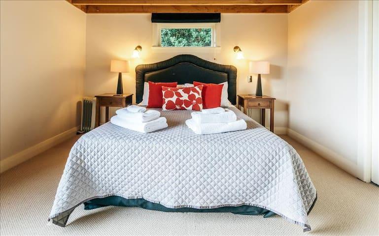 Master bedroom in The Barn