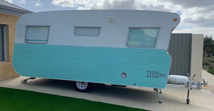 Beautifully decorated  70's inspired Caravan