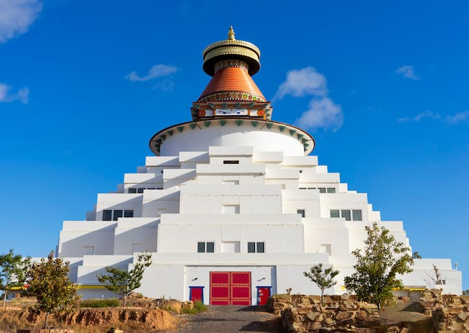 Peaceful Atisha Centre adjoining Great Stupa