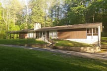 Tranquility in the Mountains -- an open, comfortable mountain home with plenty of parking and relaxing space inside & out.