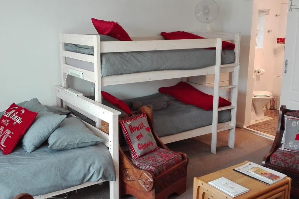 Double bed plus bunk beds
