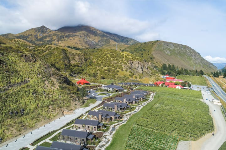 Gibbston Valley Lodge and Spa set in vine country