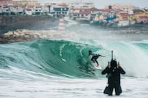 Good waves for surfing...