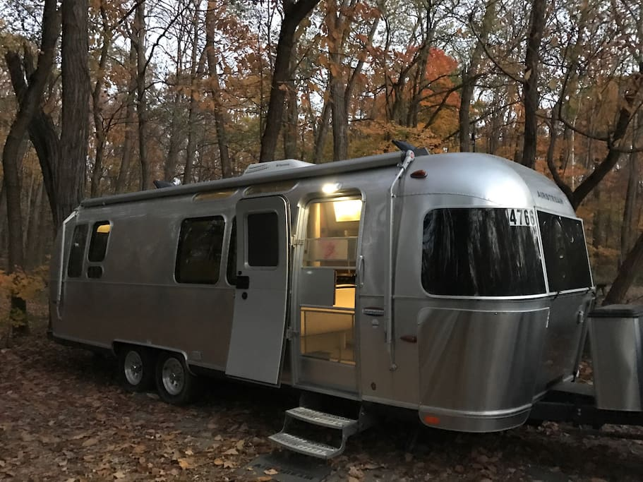 The Airstream is a cozy, beautiful, little house.