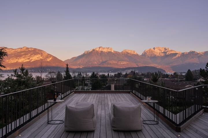 Maison Lac d'Annecy avec balnéo, vue imprenable