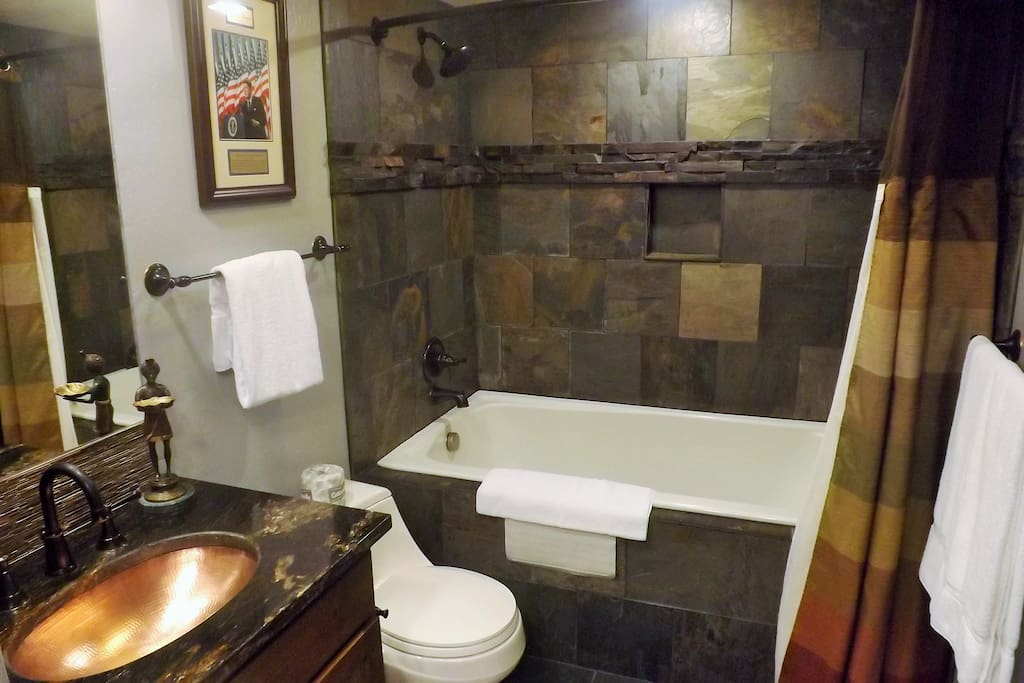 Master bathroom with jetted tub.