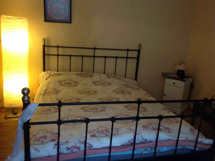 Room- New Double Bed, two pillows and blanket