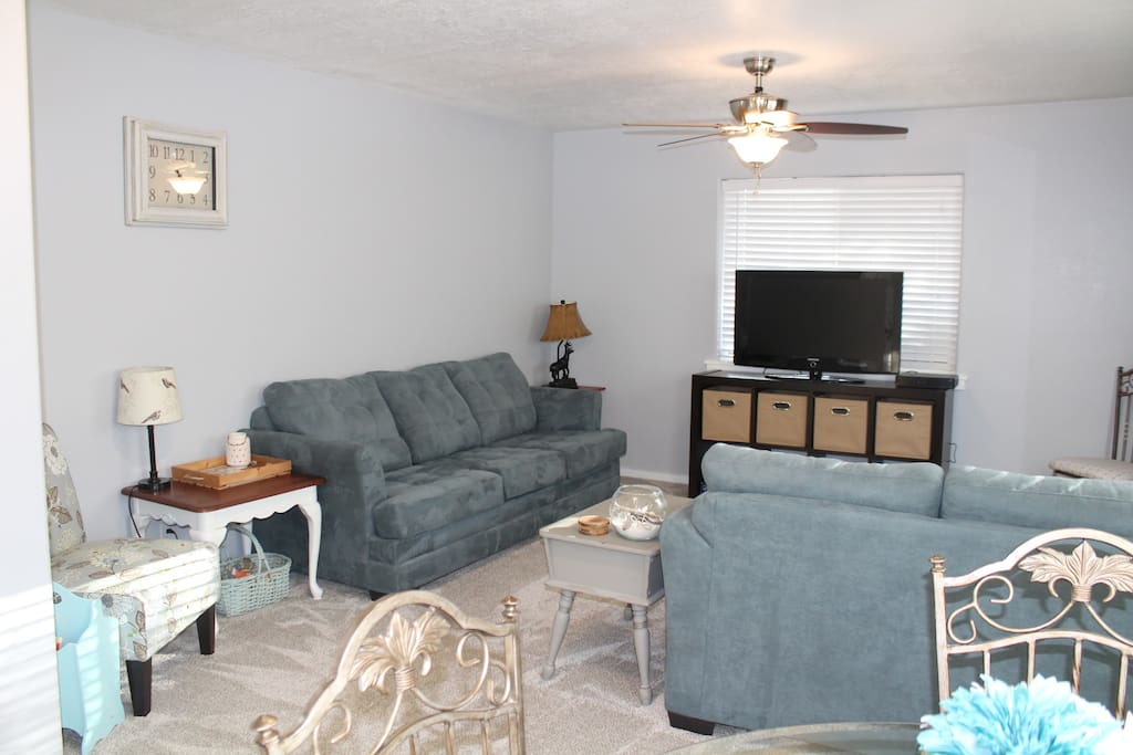 Living area with 2 couches