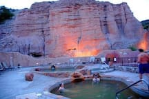"The famous ""Ojo Caliente"" Mineral Hot Springs"
