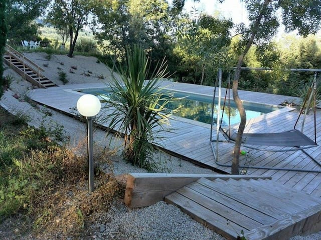 Charmantes chambres privées avec vues - Soumont - Holiday home