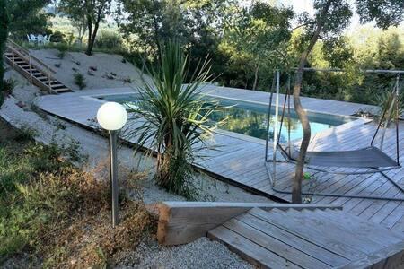 Charmantes chambres privées avec vues - Soumont - 度假屋