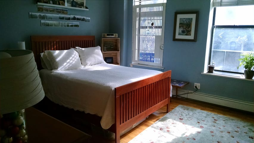 Bright, large room, 1/2 bath in Prospect Heights.