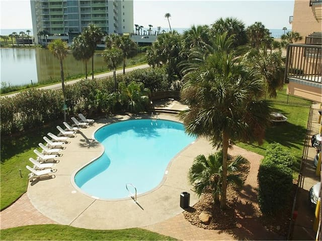Serenity by the sea, on the seawall in Galveston. Pet friendly!
