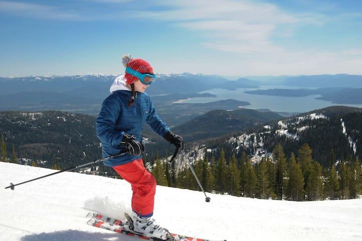 Schweitzer skiing.  https://schweitzer.com