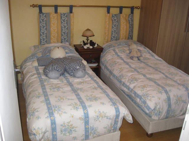 Chambre Nord avec 2 lits simples