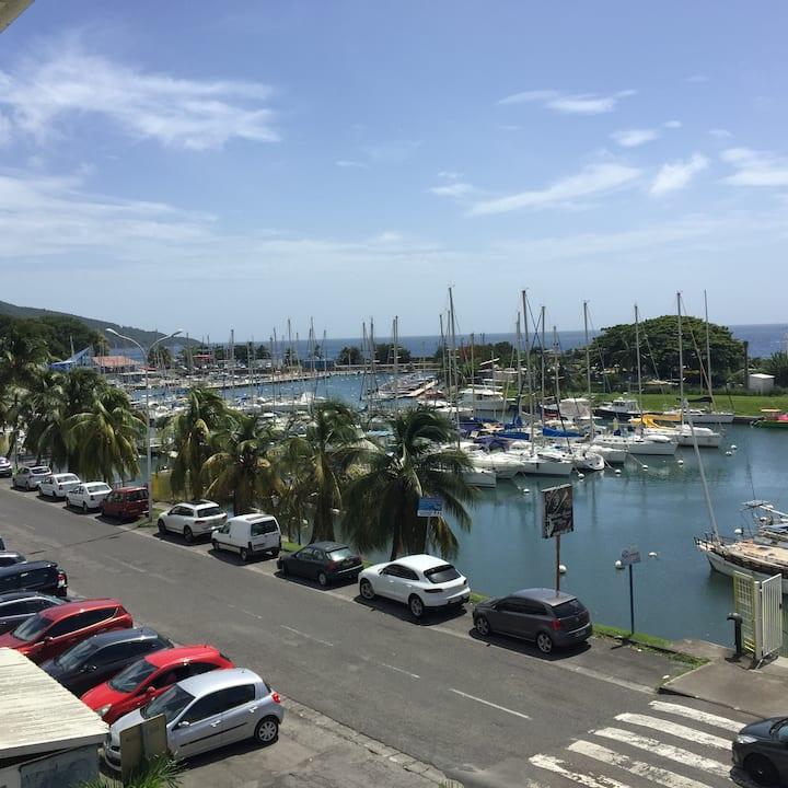 très beau T2 vue marina proximité plage bar resto