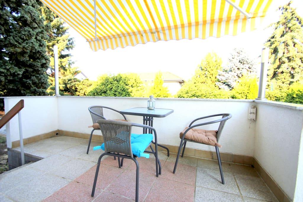 Balkon: laue Abendstunden