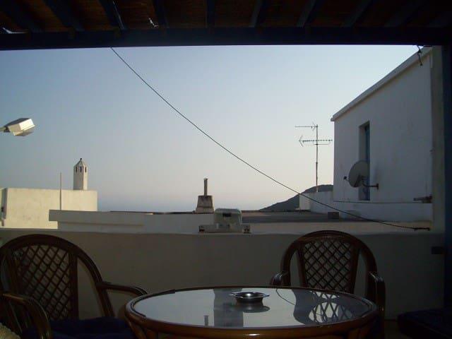 Sea view veranda apartment in Chora